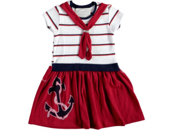 Платье морское на девочку 2/5 лет красное 322620
